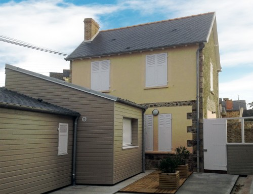 Rénovation d'une maison à Pléneuf-Val-André